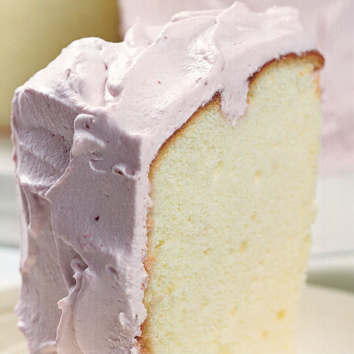 Lemon Chiffon Cake With Raspberry Cream