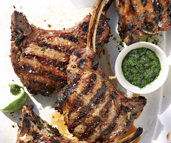 Grilled Thai Ginger Garlic Pork Chops