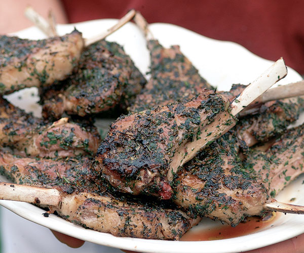 Grilled Lamb Rib Chops with a Rosemary & Sage Crust ...