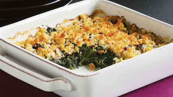 Creamy Dandelion Greens and Goat Cheese Gratin - Recipe ...