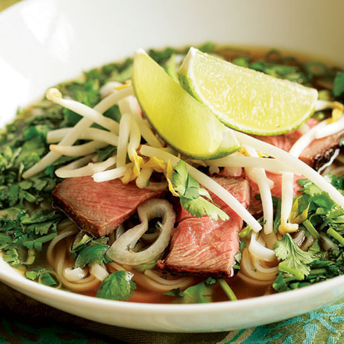Vietnamese Beef Noodle Soup with Fresh Herbs (Faux Phõ) - FineCooking