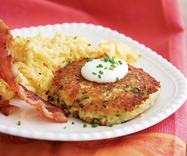 Potato cakes with chives sour cream recipe finecooking scott phillips ccuart Choice Image