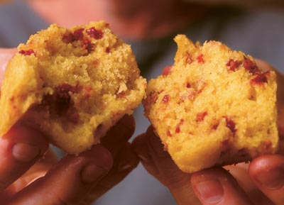 Cornmeal-Cherry Muffins - FineCooking