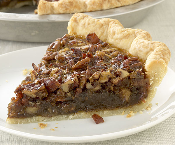Bacon and Cane Syrup Pecan Pie - FineCooking
