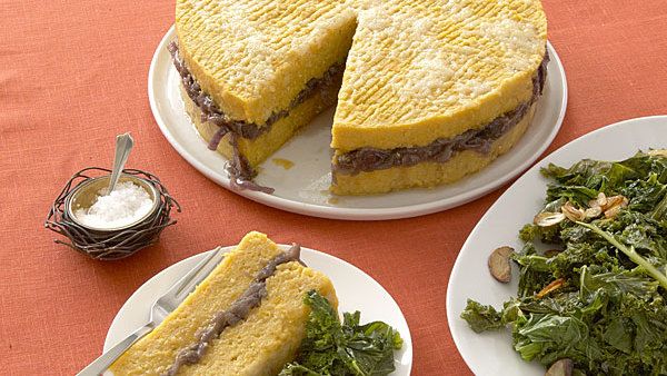 Roasted Squash and Polenta Torta with Red Onion Marmalade ...