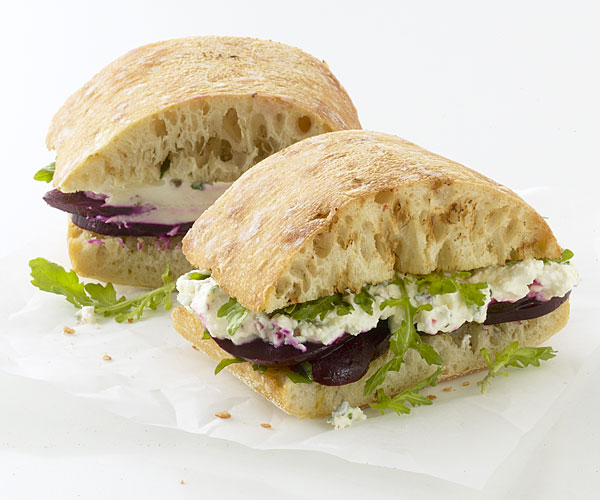 Roasted Beet Sandwiches with Herbed Goat Cheese - Recipe ...