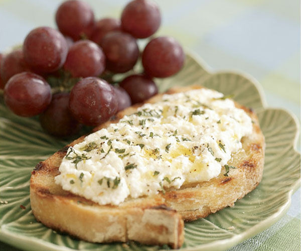 Fresh Ricotta Bruschetta with Lemon, Black Pepper & Mint - FineCooking