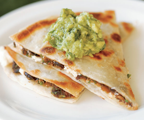 Black Bean & Goat Cheese Quesadillas with Guacamole ...