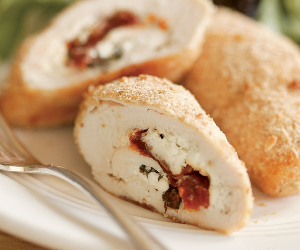 Chicken Roulades Stuffed With Goat Cheese Sun Dried