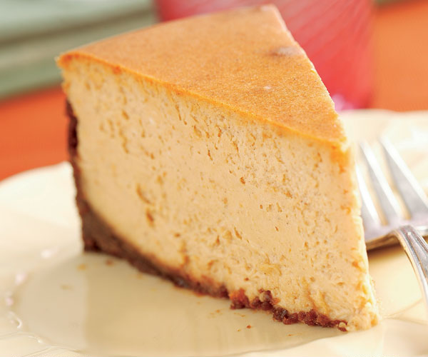 Spiced Pumpkin Cheesecake with a Gingersnap Crust ...