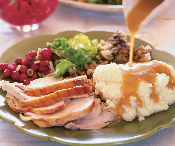 Roasted Turkey with Apple Cider Thyme Gravy - Recipe ...