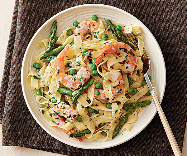 Tagliatelle with shrimp asparagus and coconut milk finecooking tagliatelle with shrimp asparagus and coconut milk ccuart Image collections