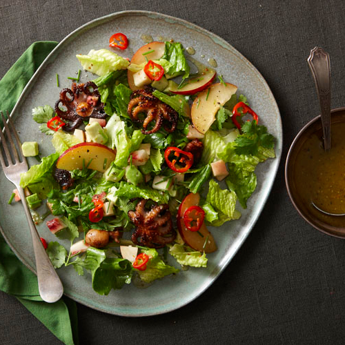 Charred Baby Octopus Salad with Cumin-Lime Vinaigrette ...