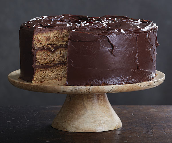 Browned Butter Banana Cake With Salted Dark Chocolate