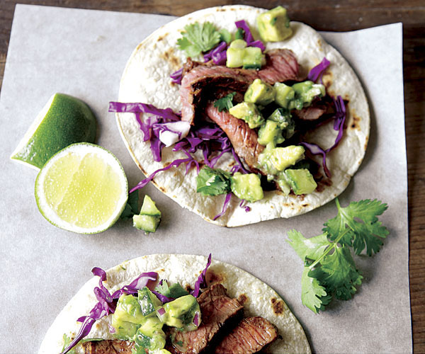 Steak Tacos with Cucumber-Avocado Salsa - Recipe - FineCooking