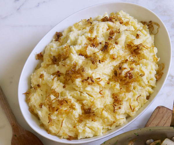 Mashed Potatoes with Caramelized Shallots - Recipe ...