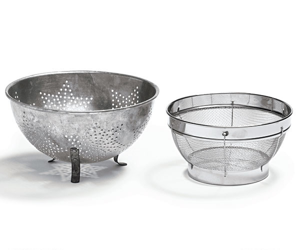 sorting out strainers colanders vs sieves article finecooking. Black Bedroom Furniture Sets. Home Design Ideas