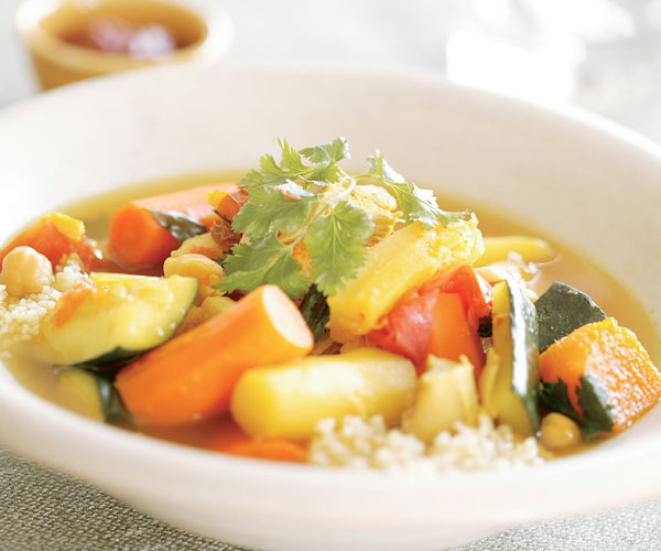 Turkey & Fall Vegetables in a Saffron-Scented Broth with ...