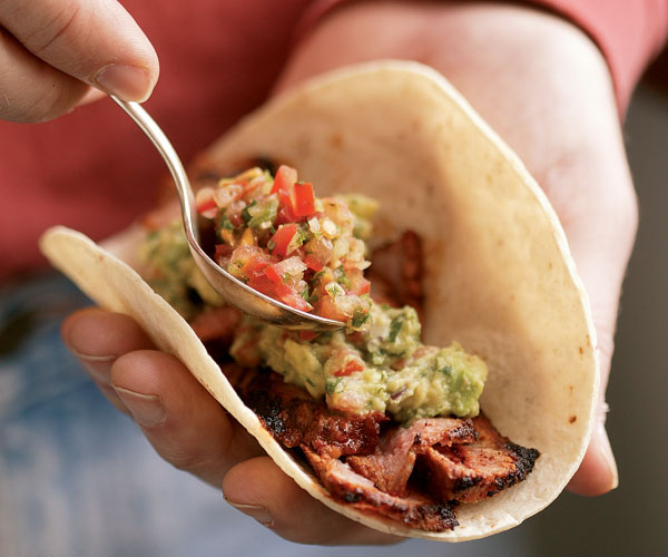 Chile-Rubbed Steak Tacos - Recipe - FineCooking