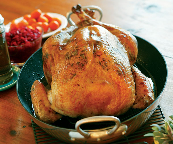 Brined Roast Turkey with Sage Butter Rub - Recipe ...