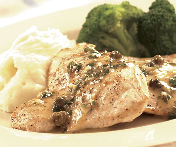 Chicken Piccata with Fried Capers - FineCooking