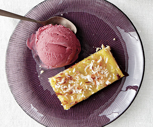 Coconut Lime Curd Bars with Blackberry Ice Cream - Recipe ...