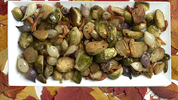 balsamic glazed brussels sprouts with pancetta - finecooking