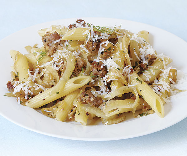 Penne with Sausage, Fennel, and Pecorino - Recipe ...
