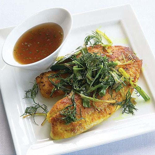 Vietnamese Tilapia with Turmeric & Dill - FineCooking