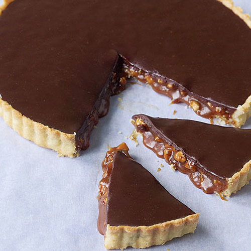 Chocolate Caramel-Almond Tart - FineCooking