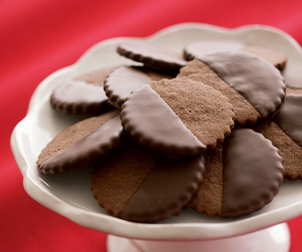 Chocolate-Glazed Chocolate-Hazelnut Cookies - Recipe ...