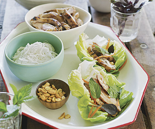 Chinese Grilled Chicken and Bibb Lettuce