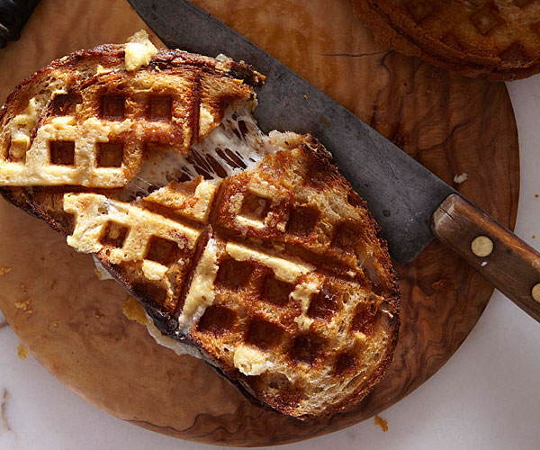 Waffle-Iron Grilled Cheese