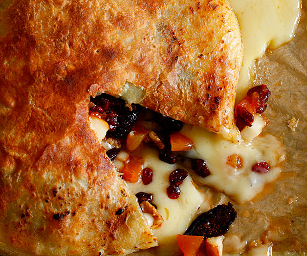 Baked Brie with Pears and Apricots