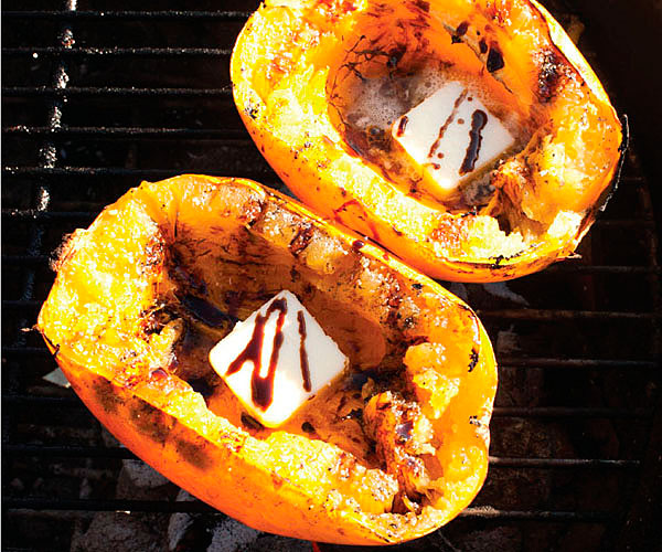 Grill-Roasted Spaghetti Squash with Molasses and Butter