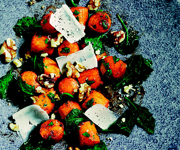 Sweet Potato Gnocci with Kale, Sage, and Balsamic Brown Butter