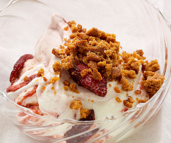 Crushed Strawberry-Balsamic Fool Parfait