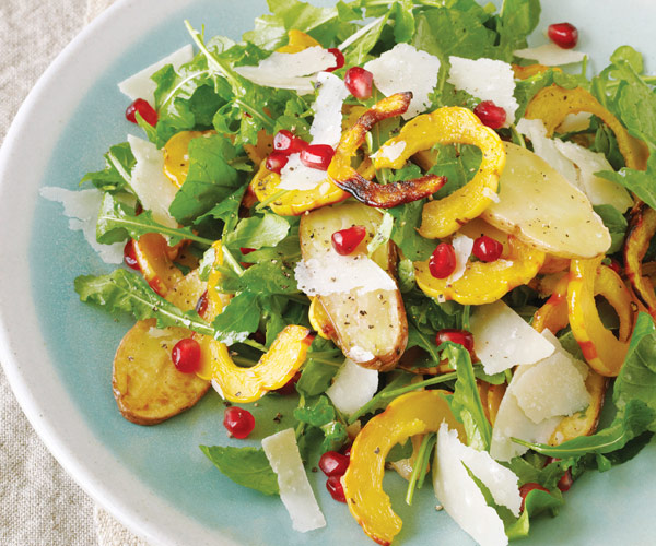 Delicata Squash Salad with Fingerling Potatoes & Pomegranate Seeds