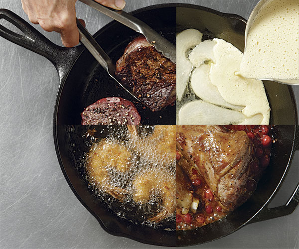 cast iron skillet recipes finecooking