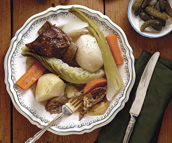 How to make pot au feu finecooking this classic french one pot meal is two dishes in one serve the savory broth as a first course followed by tender braised beef and vegetables forumfinder Images