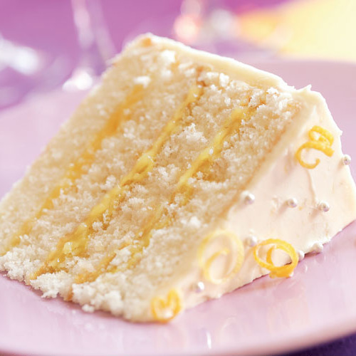 Lemon Cream Filled Cake Recipe