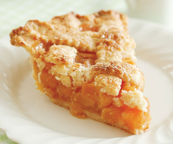 Lattice-Top Peach Pie