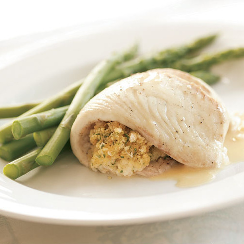 """Broiled Flounder with Parmesan """"Caesar"""" Glaze - FineCooking"""