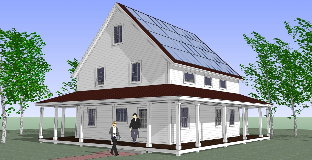 Net zero energy house in a kit fine homebuilding for Zero energy house plans