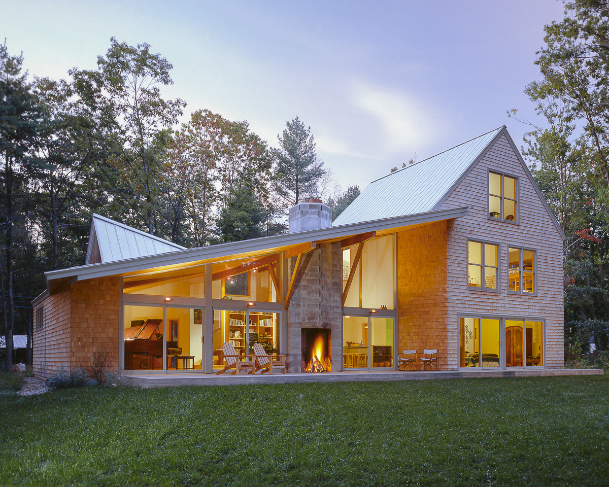 Shingle style house with a twist fine homebuilding for Building a house in maine