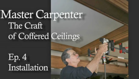 The craft of coffered ceilings: installation