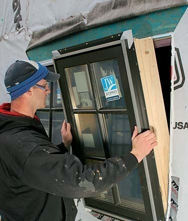 take the glass out before the window goes in when installing