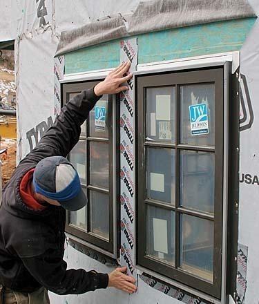 Installing and flashing windows correctly fine homebuilding for Window flashing