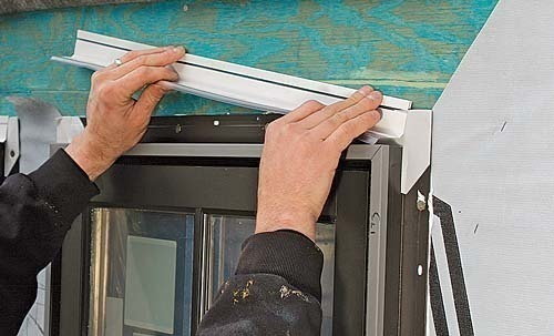 Installing and flashing windows correctly fine homebuilding for Window z flashing