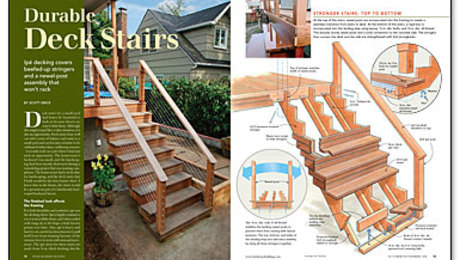Durable Deck Stairs